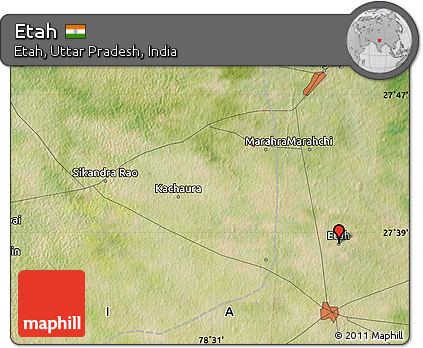 Free Satellite Map of Etah
