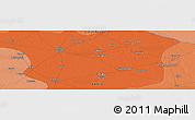 Political Panoramic Map of Alīgarh
