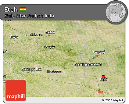 Free Satellite Panoramic Map of Etah