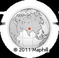 Outline Map of Shahabad, rectangular outline