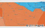 Political 3D Map of Bahraich