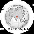 Outline Map of Bahraich, rectangular outline