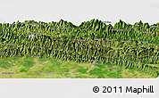 "Satellite Panoramic Map of the area around 27° 48' 57"" N, 83° 22' 30"" E"