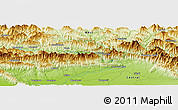 Physical Panoramic Map of Gorkhā