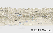 Shaded Relief Panoramic Map of Gorkhā