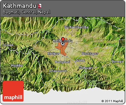 Free Satellite 3D Map of Kathmandu