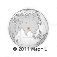 Outline Map of Manhari, rectangular outline
