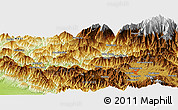 Physical Panoramic Map of Manhari