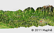 Satellite Panoramic Map of Pashupatināth