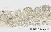 Shaded Relief Panoramic Map of Kharka