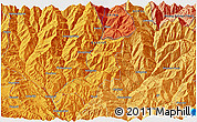Political 3D Map of Banepa