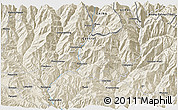 Shaded Relief 3D Map of Banepa