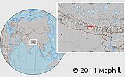 Gray Location Map of Panaoti, hill shading