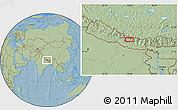 Savanna Style Location Map of Panaoti, hill shading