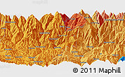 Political Panoramic Map of Banepa