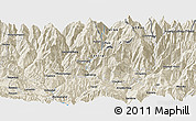 Shaded Relief Panoramic Map of Banepa