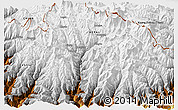 """Physical 3D Map of the area around 27°48'57""""N,86°46'30""""E"""