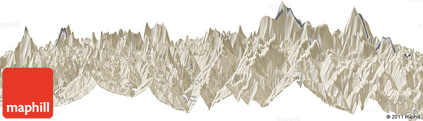 Shaded Relief Horizon Map of Beding