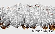 Physical Panoramic Map of Beding