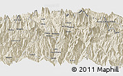 Shaded Relief Panoramic Map of Beding