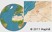 Satellite Location Map of Tindouf