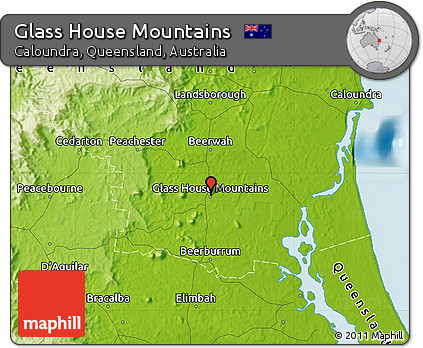 Free physical map of glass house mountains House map online free