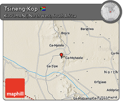Free Shaded Relief 3D Map of Tsineng-Kop on directory map, koa map, mac map, sci-fi map, man map, key map, kos map, mop map,