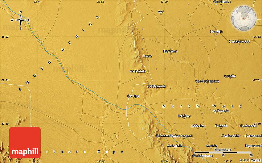 Physical Map of Tsineng-Kop on directory map, koa map, mac map, sci-fi map, man map, key map, kos map, mop map,