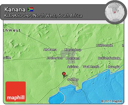 Free Political 3D Map of Kanana
