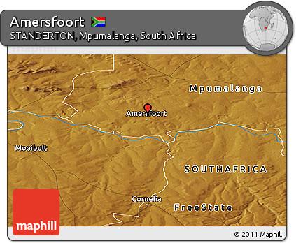 Free Physical Panoramic Map of Amersfoort