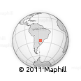 Outline Map of Misiones, rectangular outline