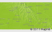 """Physical 3D Map of the area around 27°0'12""""S,56°52'30""""W"""