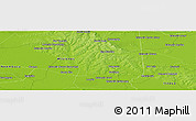 """Physical Panoramic Map of the area around 27°0'12""""S,56°52'30""""W"""