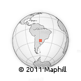 Outline Map of Desmochado, rectangular outline