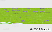 "Physical Panoramic Map of the area around 27° 0' 12"" S, 57° 43' 30"" W"