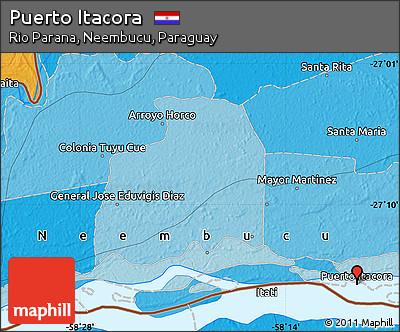 Political Map of Puerto Itacora