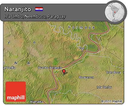 Satellite Map of Naranjito