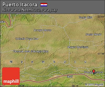 Satellite Map of Puerto Itacora