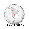 Outline Map of Makallé, rectangular outline