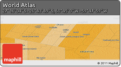 """Political Panoramic Map of the Area around 27°0'12""""S,60°16'29""""W"""