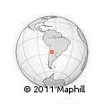 """Outline Map of the Area around 27° 0' 12"""" S, 66° 13' 29"""" W, rectangular outline"""