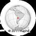 Outline Map of San José, rectangular outline