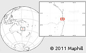 Blank Location Map of Brisbane