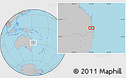 Gray Location Map of Brisbane