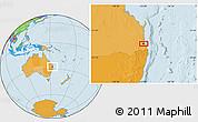 Political Location Map of Brisbane