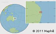 Savanna Style Location Map of Brisbane