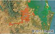 Satellite Map of Brisbane
