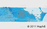 Political Panoramic Map of Brisbane