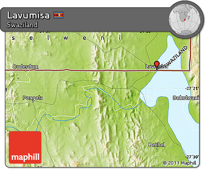 Free Physical Map of Lavumisa