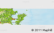 """Physical Panoramic Map of the area around 27°29'28""""S,48°22'30""""W"""